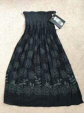 Lapis Womens Convertible Skirt Dress OS One Size Black Grey Roses