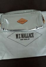 "MZ WALLACE, NEW YORK, NY COSMETIC BAG METALLIC SILVER - 8"" x 4"" x 1"""