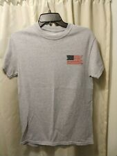 New listing Point Sportswear American Flag Camp America gray t-shirt Men's Small made in Usa