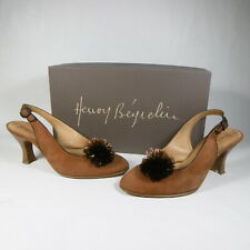 G451 SCARPE DECOLTè POMPON TACCO DONNA 38,5 HENRY BEGUELIN MADE IN ITALY VINTAGE