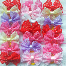 40pcs PET HAIR BOWS With rubber band Grooming Accessories For Dog  Puppy