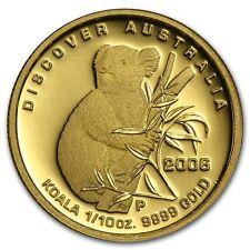 2006 ~ $15 .9999 GOLD~ KOALA ~1/10~OZ~ PROOF GEM ~COA~ORIGINAL MINT BOX~ $233.88