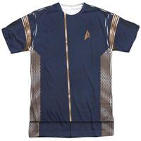 Authentic Star Trek Discovery TV show Command Uniform Costume FRONT T-shirt top