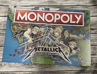 Metallica Monopoly Collectors Edition Game Rare NEW - Tokens🐍🎼 Ships Fast