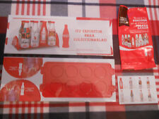 COCA COLA BOTELLA BOTTLE ALUMINUM ALUMINIO EXPOSITOR SEALED NEW