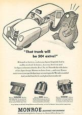 1951 Monroe Calculator Machine Vintage Advertisement Print Ad J518