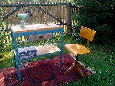 Regal Schreibtisch Werkbank Werktisch Loft Metall mit Holz Industriedesign
