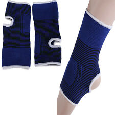 2 X Elastic Ankle Brace Support Band Aid Baseketball Sports Gym Protects Therapy