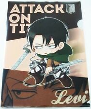 Official Japan Shingeki no Kyoujin Attack on Titan Levi Clear File Folder