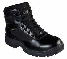 Skechers Men's Work Wascana Benen Black Tactical Boot 77526/BLK