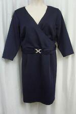Spense Womans Dress Sz 20W Marine Blue Evening Dinner Cocktail 3/4 Sleeve Dress