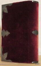 Paroissien romain velours rouge 1854 mame argent illustré chromolithographie tbe