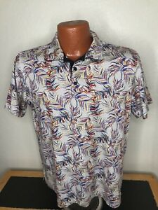 Men's Bugatchi Uomo S/S Polo/Golf Shirt Size Medium (M) Mercencized Cotton