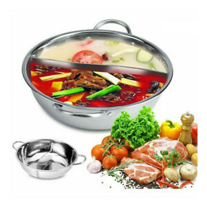 Stainless Steel Hotpot Induction Cooker Stove Pot Cooking Pot Twin Divided