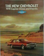 Chevrolet Caprice Classic & Impala USA Sales Brochure -July 1977 #