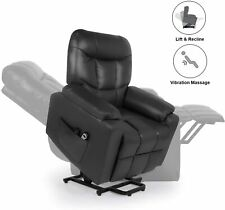 Lounge Chairs Lift Recliner Chair for Elderly with Massage Black Single Sofa