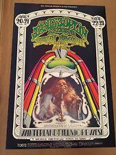 JANIS JOPLIN SAVOY BROWN 1969 Fillmore Concert Poster BG 165 2nd Tuten