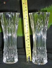 2x ARTDECO STYLED CRYSTAL Glass VASE FLOWER PLANT POT DESIGN MANTLE