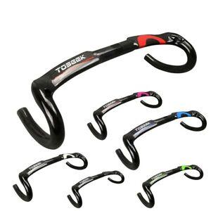 TOSEEK Full Carbon Fiber Road Bike Handlebar Racing Drop Bar 31.8*400/420/440mm