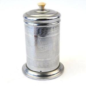 Vintage Metal Silver Tone Preserve Tin Caddy - Size 15cm Tall FREE UK Postage
