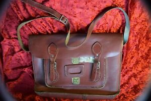 Original Leather School satchel, ideal for fancy dress and cos play