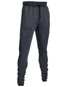 Under Armour Men's Black UA Sportstyle Stacked Terry Fitted Joggers 1303704