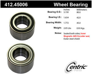 Wheel Bearing-Premium Bearings Front Centric 412.45006
