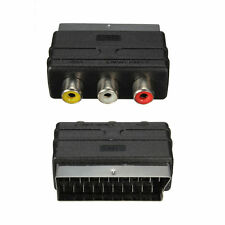 SCART Male Plug to 3 RCA Female A/V Audio Video Adaptor Converter for TV DVD 3J