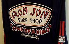 Ron Jon Surf Shop Logo Cocoa Beach Florida Long Sleeve Blue T Shirt Size M