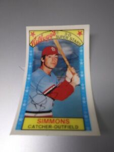 1979 Kellogg's 3D #2 Ted Simmons NM St. Louis Cardinals HOFer FREE SHIPPING !!