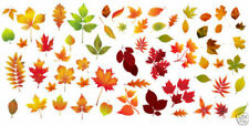 Nail Art Water Decals Transfers Autumn Leaves Winter Fall Gel Polish 1 Sheet