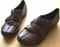 Clarks UnStructured Slip On Ladies Brown Leather Shoes UK 6.5 EU 40