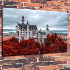 "Neuschwanstein Castle Printed Canvas Picture A1.30""x20"" 30mm Deep Harry Potter"