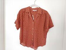 NWT Madewell Silk Camp Shirt in Inkbrush Dots Sz XS