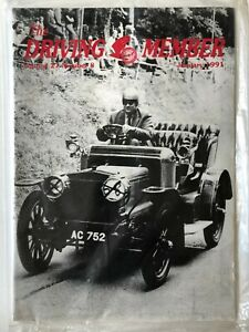 The Driving Member Magazine Jan 1991 Vol.27  No.8 Daimler & Lanchester Owners