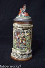 Vintage Stein Old Gerz W Germany Fox Hunt Figure Ausunserem Firmen Archiv