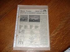 Riley ELF Wolseley Hornet hojas de información de servicio de operador del motor libre poste del Reino Unido