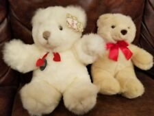 "Two  Gund 13"" & 11"" Very Plush  Teddy Bears White and Tan"