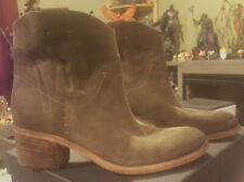 Alberto Fermani Suede Ankle Bootie - Dark Green / Forest - Size 9.5 -VERY NICE !