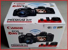NEW Canon EOS Rebel T6 DSLR Camera Premium Kit w/ 2 Lens 18-55 & 75-300mm & Bag