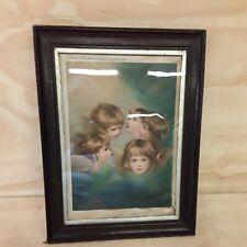 More details for gentlewoman magazine silk supplement 'the cherub choir' christmas 1904 framed