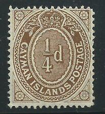 Cayman islands 1908 SC#31  MvLH OG MUST SEE