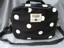 PINK VS Laptop Tablet Bag Black White Polkadots