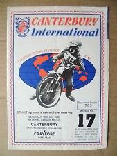 1983 Canterbury International National Leg Match- CANTERBURY v CRAYFORD, 16 July