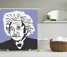 Purple Black White Einstein Portrait Gift Decoration Fabric Shower Curtain