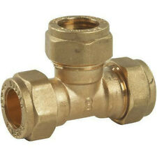 15mm Compression Brass Equal Tees - 10 Pack