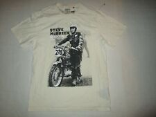 BARBOUR THE STEVE MCQUEEN COLLECTION MEN'S T-SHIRT CREAM BLACK LARGE COTTON