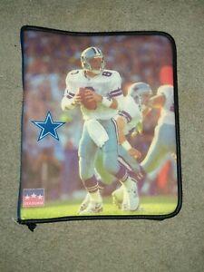 VINTAGE NWOT 1997 STARLINE NFL TROY AIKMAN COWBOYS BINDER TRAPPER KEEPER ZIP