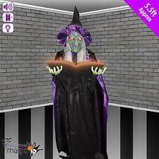 Halloween debout animé parlante Storybook sorcière horreur DÉCORATION ACCESSOIRE