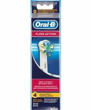 Braun Oral B Floss Action Replacement Heads Pack Of 4